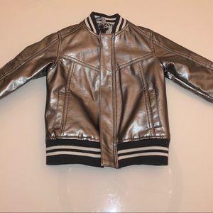 Silver toddler bomber jacket